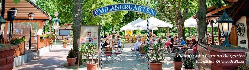 Example of a German Biergarten